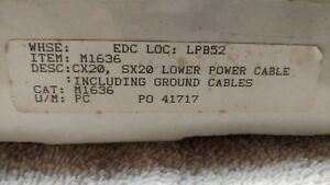 Mitsubishi Wire Edm Lower Power Cables Part M1636 Cx20 sx20 new