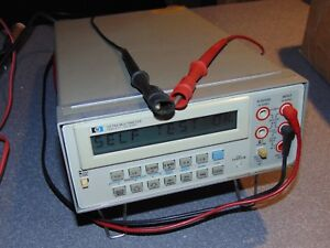 Used Hp 3478a Multimeter With Leads Hewlett Packard Working