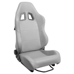 Summit Racing Seat Sport Simulated Leather Gray Dial Recliner Drv Psgr Ea