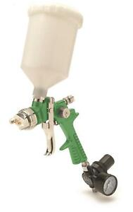 Titan Tools Spray Gun Hvlp Gravity Feed 2 3mm Gun 600cc Cup Green Body Ea 19023