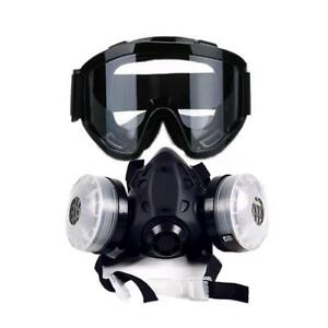 New Half Face Gas Mask With Anti fog Glasses N95 Chemical Dust Mask Respirator