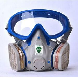 Gas Mask With Glasses Full Face Protective Mask Antii Dust Paint Chemical Masks