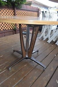 Mid Century Modern Dining Extendable Metal Table