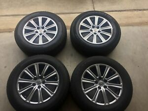 Lexus 17 Inch Alloy Hyper Silver Rims 4 Plus 4 225 r65 17 Tires Included