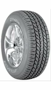 Set Of 4 Cooper Tires Starfire Sf 510 Tires 255 70 16 Radial Ol Wht Letter 51037