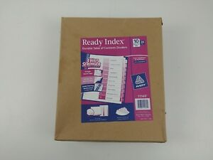 Avery Ready Index Table Of Contents Dividers 10 tab Set 24 Sets 11169 New