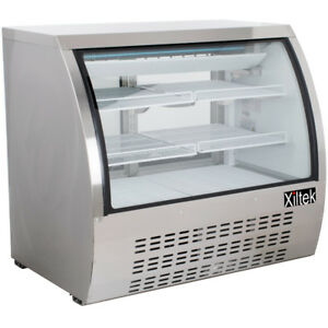 New Xiltek 48 All S s Commercial Refrigerated Curved Glass Display Deli Case 4