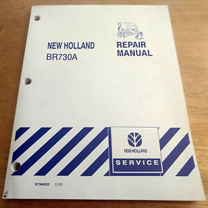 New Holland Br730a Round Baler Service Repair Manual Nh