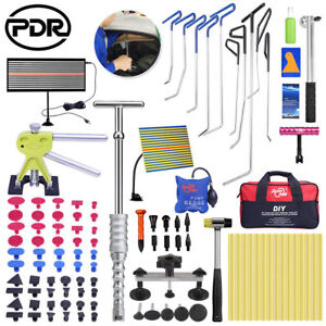 Us 110x Pdr Rod Tools Paintless Dent Repair Puller Lifter Line Board Hammer Kits