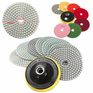 Diamond Polishing Pads 4 Inch Wet dry 8 Piece Set Granite Stone Concrete Marble