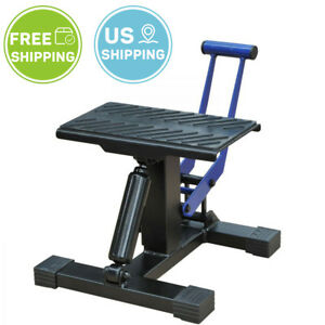 Wide Deck Motorcycle Scissor Jack Lift Stand Repair Bike Auto Garage Tool