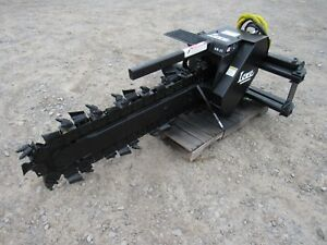 Bobcat Skid Steer Loader Attachment Lowe Xr 21 48 By 6 Trencher Ship 199