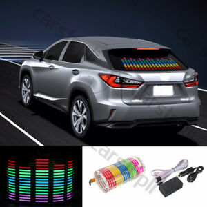 Car Sticker Music Rhythm Led Flash Light Sound Activated Equalizer Rgb 90x25cm