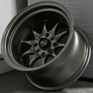 15x9 Bronze Wheels Vors Tr3 4x100 4x114 3 0 Set Of 4