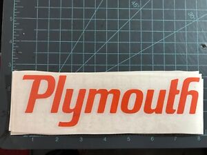 Awesome Plymouth Graphic Decal Sticker Vinyl Gto Roadrunner Barracuda Hemi