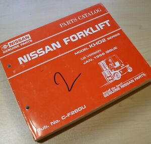 Nissan Kh02 Series Forklift Parts Manual Book List Catalog Spare 1996 Lift Truck