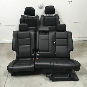2016 Jeep Grand Cherokee Overland Seats Front Rear Left Right Black Leather Oem