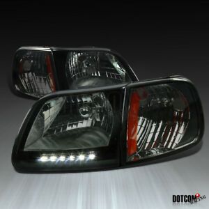 1997 2004 F 150 1997 2002 Expedition Smoke Lens Led Headlights turn Signal Lamps