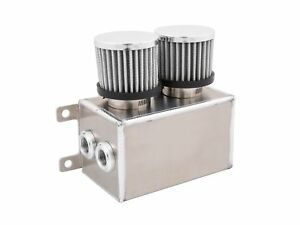 Alloy 1 2l Dual Baffled Engine Motor Oil Catch Can Tank Reservoir 8 10 Silver