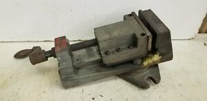 Clausing Model 8636 4 Milling Machine Vise W Swivel Base Lots Of Problems