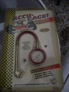 New Old Stock Accu Gage The Tire Pressure Guage Free Shipping For Christmas