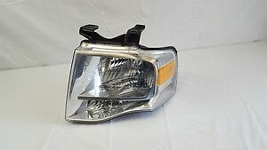 2007 2008 2009 2010 Ford Expedition Left Driver Halogen Headlight Oem Chrome