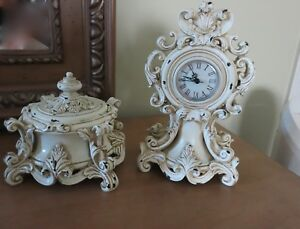 Beautiful Shabby Chic Clock Jewelry Set Victorian Baroque French