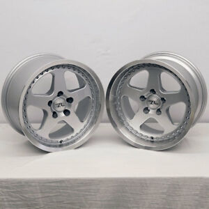 17 Silver Mustang Saleen Sc Replica Wheels Staggered 17x9 17x10 5x114 3 94 04