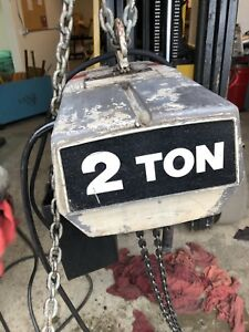 Coffing 2 Ton Electric Chain Hoist 230 460 V 3ph 60hz 10 Lift 16 Fpm Tested
