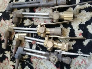 Large Lot Harris Brass Airco Oxy acetylene Welding Torch Body Valve Tip Cutting