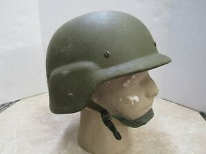 USGI Made With Kevlar Helmet SIZE LARGE PASGT L1 Gentex MFG EARLY 1980S ISSUE
