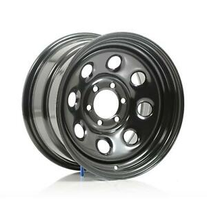 Cragar Soft 8 Black Steel Wheels 15 X8 6x4 5 Bc Set Of 4