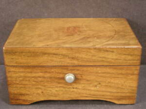 Rare Antique Thorens Plays Dixie Home Sweet Home 3 Tune Cylinder Swiss Music Box