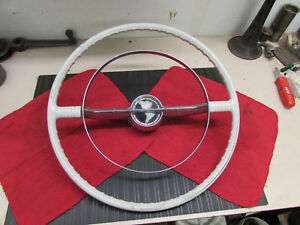 Original Genuine 1955 1956 Oldsmobile Starfire 98 Ivory Steering Wheel W Ring