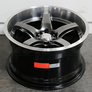 17x8 Chromium Black Ml Wheels Xxr 555 5x100 5x114 3 35 Set Of 4
