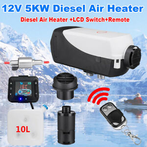 5kw 12v Air Diesel Heater Car Boat Truck Quiet Parking Lcd Switch Remote Control