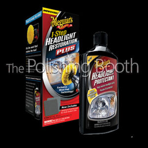 Meguiars Headlight Restoration Kit G1900uk And Protectant Kit G17110 Brand New