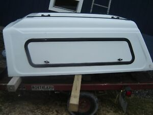 White Commercial Utility Truck Cap Topper Used 7 Bed Side Doors Century