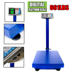660lbs Weight Computing Lcd Digital Floor Platform Scale Postal Shipping Mailing