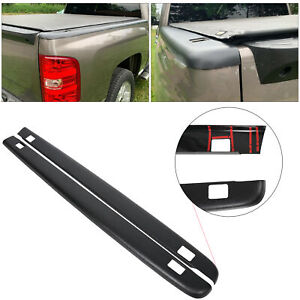 Black Bed Rail Caps For Chevy Silverado 5 8 Bed 2007 2013