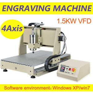 4axis Usb Port Cnc 6040 1 5kw Router Milling Machine Engraver Engraving Drilling