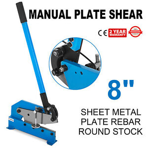 8 Length Hand Shear Cutting Sheet Metal Snip Machine Round Stock Steel Frame