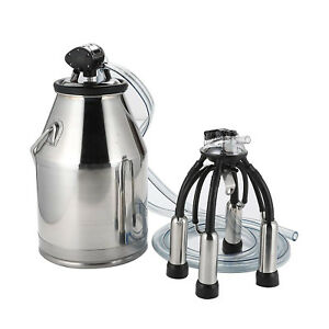 Electric Milker Bucket 25l Milking Machine Portable Stainless Steel Tank Solid