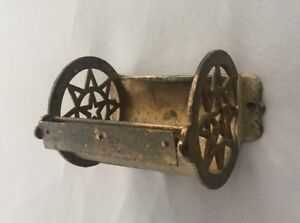 Antique Star Cast Iron Toilet Paper Tissue Holder Vtg Bathroom Old 1 19j