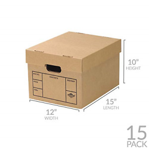 File Storage Boxes 15 Pack 200 Strength