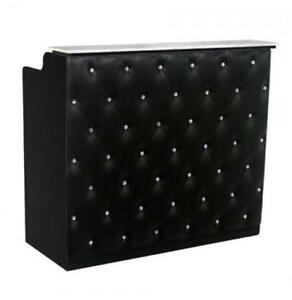 Crystal Reception Desk 48 Black black Free Shipping