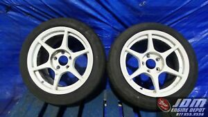 Jdm Kosei P1 Racing Wheels 16x8 5 37 225 45 16 Bridgestone 5x114 3 Free Shipping