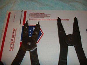 Lot 2 Pc Huge Blue Point Retaining Snap Ring Pliers Pr7 Pr8