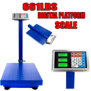 300kg 661lb Weight Price Scale Digital Floor Platform Shipping Warehouse Postal