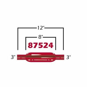 Cherry Bomb 87524cb Glasspack Red 3 00 Inlet outlet Steel Each